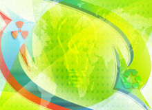 Ecology. Eco conceptual image; world saving energy Stock Image