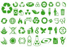 Ecology. Recycle and ecology icons collection stock illustration