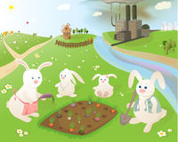 Ecology. Pollution threatening the existence of wildlife. Vector illustration Stock Image