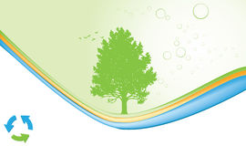 Ecology abstract background stock illustration