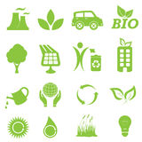 Ecology And Environment Icon Set Royalty Free Stock Image