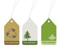 Ecology And Recycle Tags For Environmental Design Stock Photography