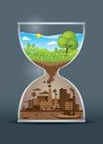 Ecology awareness hourglass Royalty Free Stock Photo