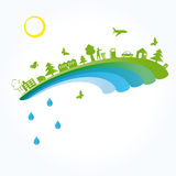 Ecology background. Ecology concept you can use on Earth Day Stock Photo
