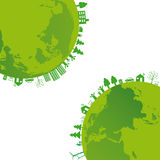 Ecology background. Ecology concept you can use on Earth Day royalty free illustration