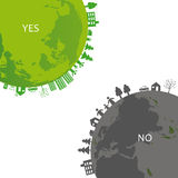 Ecology background. Ecology concept you can use on Earth Day Vector Illustration