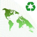 Ecology background. Map of the world, ecology background Vector illustration Stock Photos