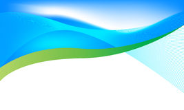 Ecology background. With blue and green colors, vector illustration royalty free illustration