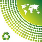 Ecology background. Map of the world, ecology background Vector illustration Royalty Free Stock Photos