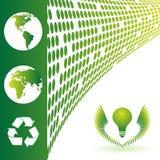Ecology background. Map of the world, ecology background Vector illustration Stock Image