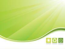 Ecology background vector illustration