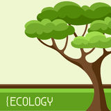 Ecology background design with abstract stylized Royalty Free Stock Images