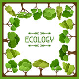 Ecology background design with abstract stylized Stock Images