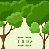 Ecology background design with abstract stylized Stock Image