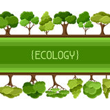 Ecology background design with abstract stylized Stock Photography