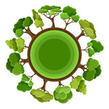 Ecology background design with abstract stylized Royalty Free Stock Photos