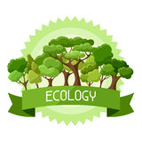 Ecology background design with abstract stylized Stock Photos