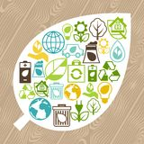 Ecology background with environment icons. Stock Images