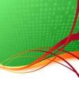 Ecology background with orange swoosh Stock Images