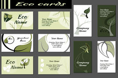Ecology Backgrounds for business cards Stock Image