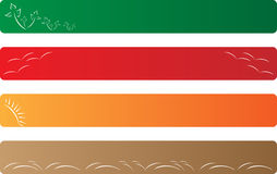 Ecology banner. Some simple and clean ecology banner Stock Photos