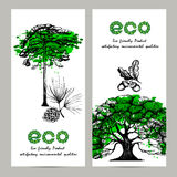 Ecology Banner Set Royalty Free Stock Images