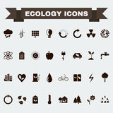 Ecology Big Icons Set Stock Image
