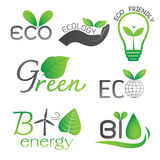 Ecology and Bio Energy Icons Stock Images