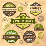 Ecology and bio labels Stock Photo