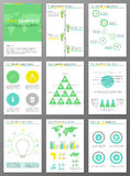 Ecology brochures and infographic set Royalty Free Stock Image