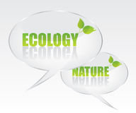 Ecology bubble speech illustration Stock Photography