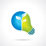 Ecology bulb - Illustration with nature concept Stock Photos