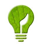 Ecology bulb light. Clipping path, isolated stock photo