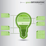 Ecology business info graphic Royalty Free Stock Image