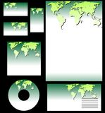 Ecology business set vector Stock Image