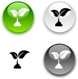 Ecology button. Stock Images