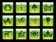 Ecology button set. From a series in my portfolio Royalty Free Stock Photography