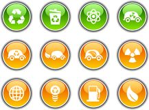 Ecology  buttons. Ecology  button set. Vector illustration Royalty Free Stock Image