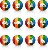 Ecology  buttons. Royalty Free Stock Image