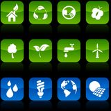 Ecology  buttons. Stock Images