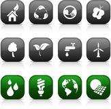 Ecology  buttons. Stock Photo