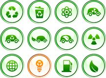 Ecology  buttons. Stock Photos