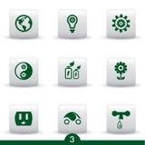 Ecology buttons Stock Photos