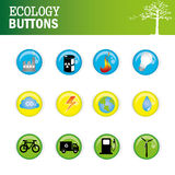 Ecology buttons. Over white background vector illustration Stock Image