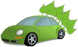 Ecology car. Ecology green car -  illustration Royalty Free Stock Photos