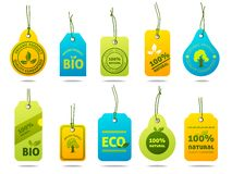 Ecology Cardboard Labels Royalty Free Stock Image