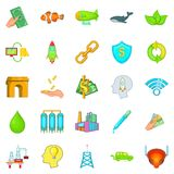 Ecology care icons set, cartoon style. Ecology care icons set. Cartoon set of 25 ecology care vector icons for web isolated on white background Stock Photos