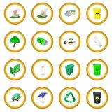 Ecology cartoon icon circle Royalty Free Stock Image