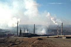 Ecology catastrophe in Norilsk, Russia Stock Photo