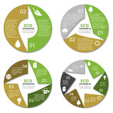 Ecology circle diagram, round infographic. Nature concept with 2, 3, 4, 6 options Stock Image